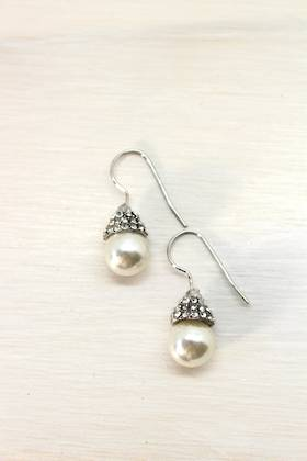 Diamond Capped Earring