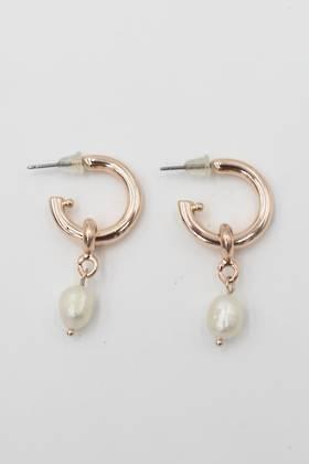 Pearl Cove Earrings Rose Gold