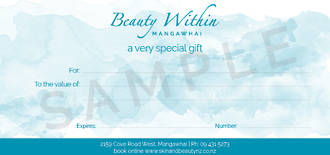 E Gift Vouchers Beauty Within
