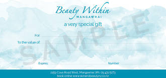 Gift Vouchers Beauty Within