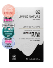 Living Nature | Charcoal Clay Mask - Single
