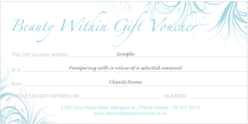 Gift Voucher for BW as Image