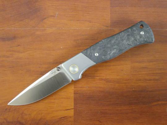 Boker Plus Todd Rexford 2021 Collection Folding Knife M390, Carbon Fiber /Titanium Handles, W/Sheath