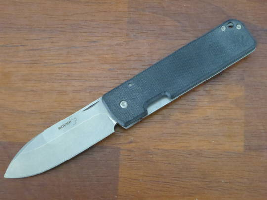Boker Plus Serge Panchenko Lancer 42 Folding Knife, D2 Stonewashed , G10 with SS Back Handles - 01BO465