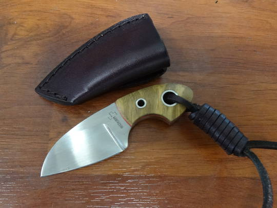 Boker Plus Gnome Olive Wood Fixed Blade Knife - 02BO238