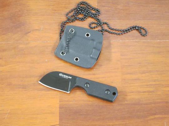 Boker Magnum Nano Neck Knife Santoku Blade, G10 Handles, Kydex Sheath - 02MB203