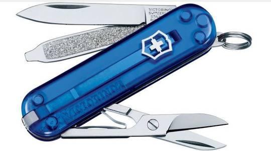 2 X Victorinox Classic SD Swiss Army Knife Tran blue