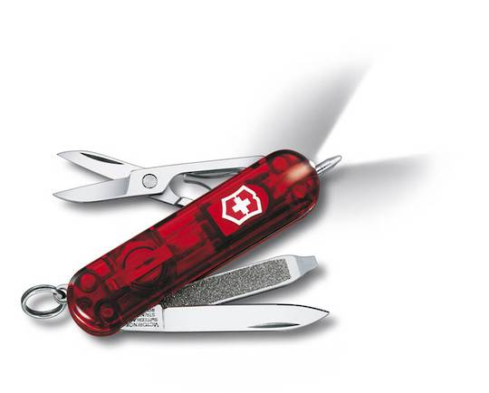 Victorinox Signature Lite Swiss Army Knife - Red Transparent