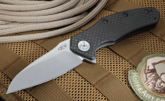 Zero Tolerance Assisted Flipper S35VN Blade, Carbon Fiber Handles - ZT0770CF