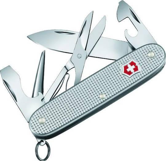 Victorinox Pioneer X Silver Alox Aluminum Swiss  Army Knife