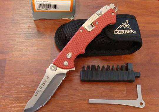 Gerber Hinderer Rescue Folding Knife