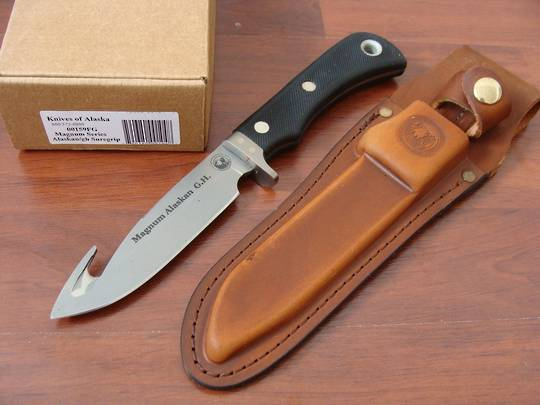 Knives of Alaska Magnum Akaskan Guthook Suregrip Knife - 159FG