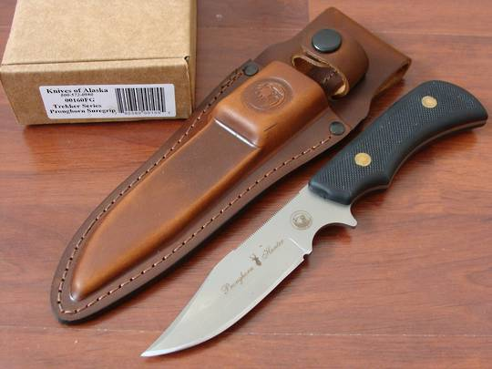 Knives of Alaska Trekker Series Pronghorn Hunter Black SureGrip Knife - 160FG