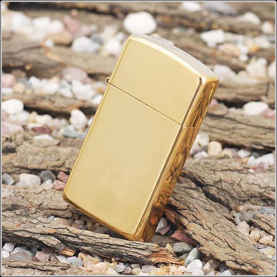 Zippo Slim High Polished Brass Lighter