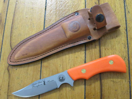 Knives of Alaska Trekker Series Pronghorn Hunter Orange SureGrip Knife - 176FG