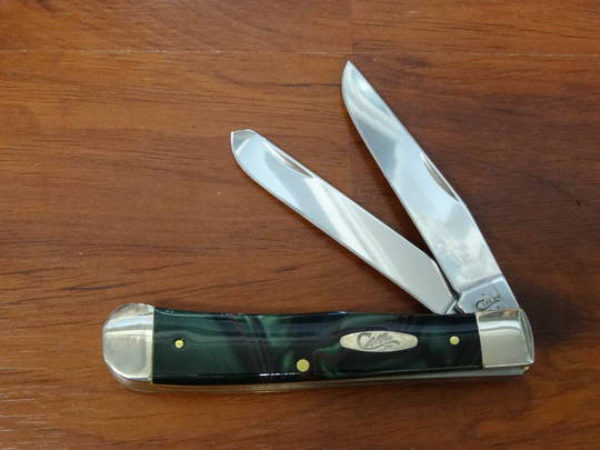 CASE CUTLERY JUNGLE TRAPPER GREEN KIRINITE CAMO POCKET KNIFE - 18526