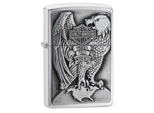 Zippo Harley Davidson Eagle & Globe Emblem Lighter