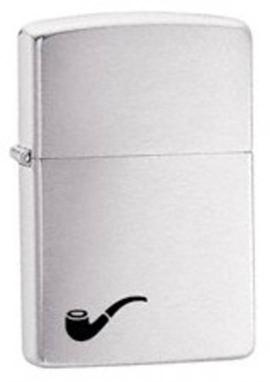 Zippo Brushed Chrome Pipe Lighter