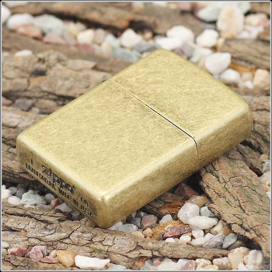 Zippo Antique Brass Lighter - 201FB