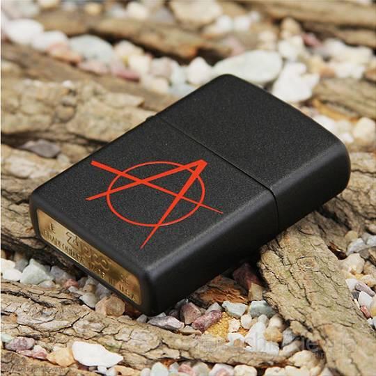 Zippo Anarchy Black Matte Lighter