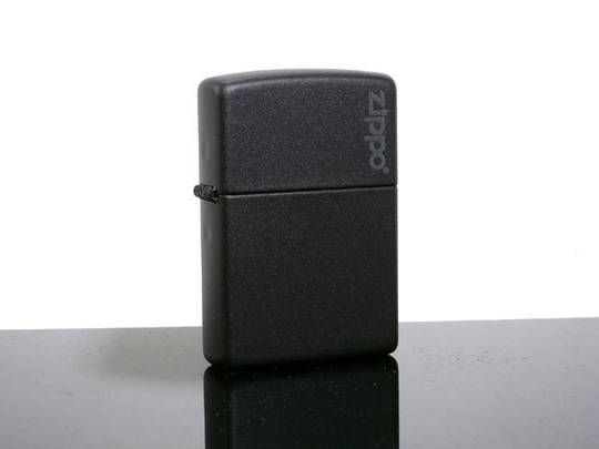 Zippo Black Matte with Logo Lighter