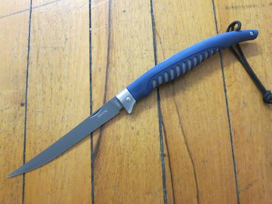 """Buck 220 Silver Creek Folding Fillet Knife 6-1/2"""" Flexible Blade"""