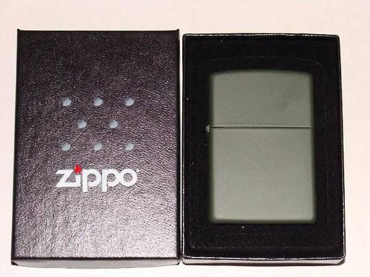 Zippo Reg Green Matte Lighter