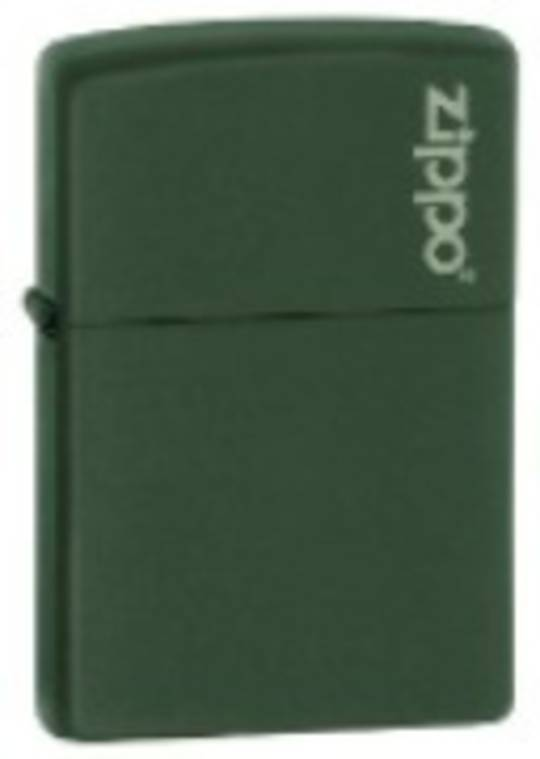 2 x Zippo Green Matte Logo Lighter