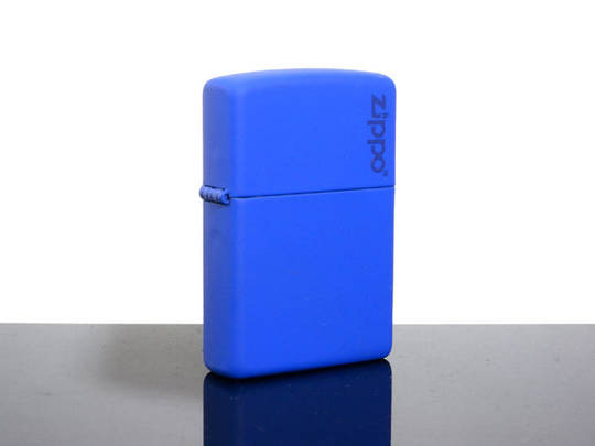 Zippo Royal Blue Matte with Logo Lighter