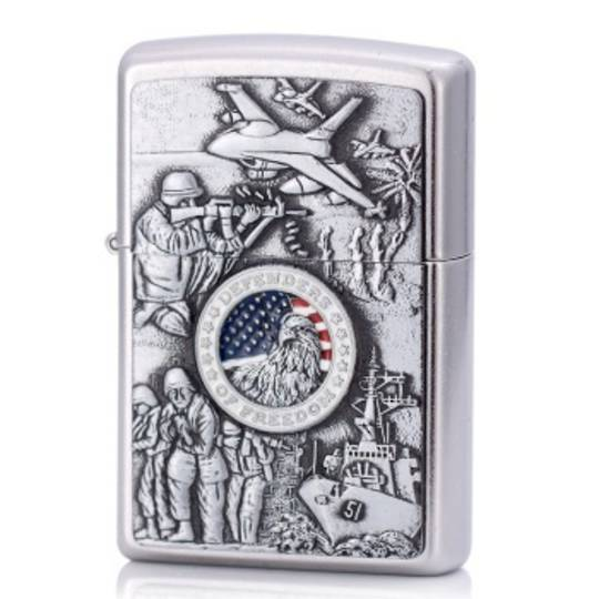 Zippo Joined Forces Emblem Lighter