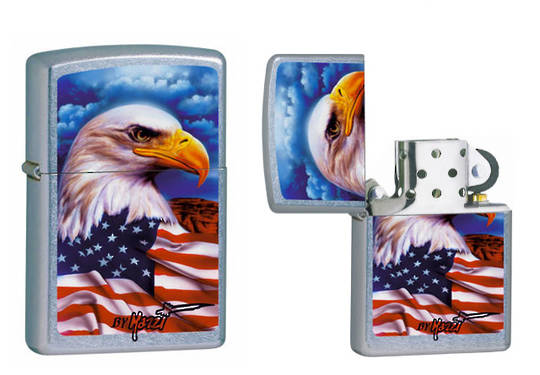 ZIPPO MAZZI FREEDOM WATCH FLAG LIGHTER