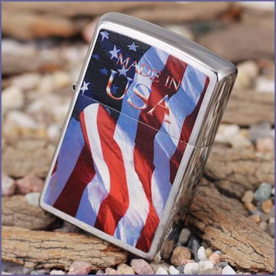 ZIPPO USA FLAG LIGHTER