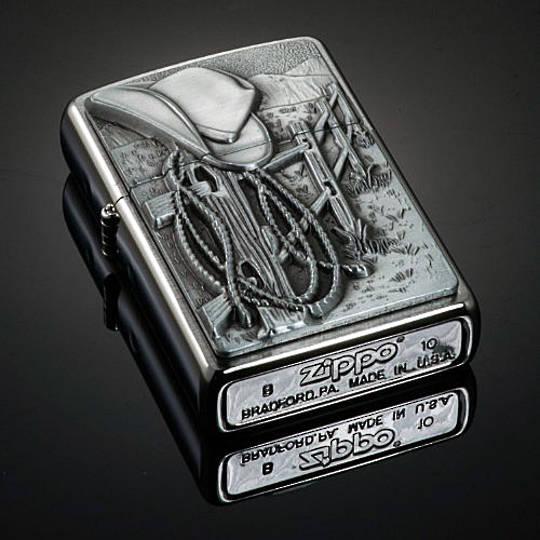 Zippo Cowboy Emblem Lighter