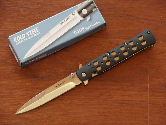 "Cold Steel Ti-lite 4"" Folding Knife"
