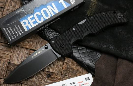 Cold Steel Recon 1 Spear Point S35VN Plain Blade, G10 Handles