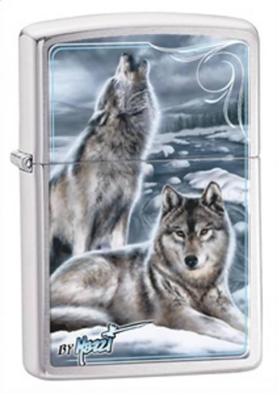 Zippo Mazzi Howling Wolves Lighter