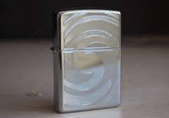 Zippo Swirl High Polish Chrome Lighter - 28286
