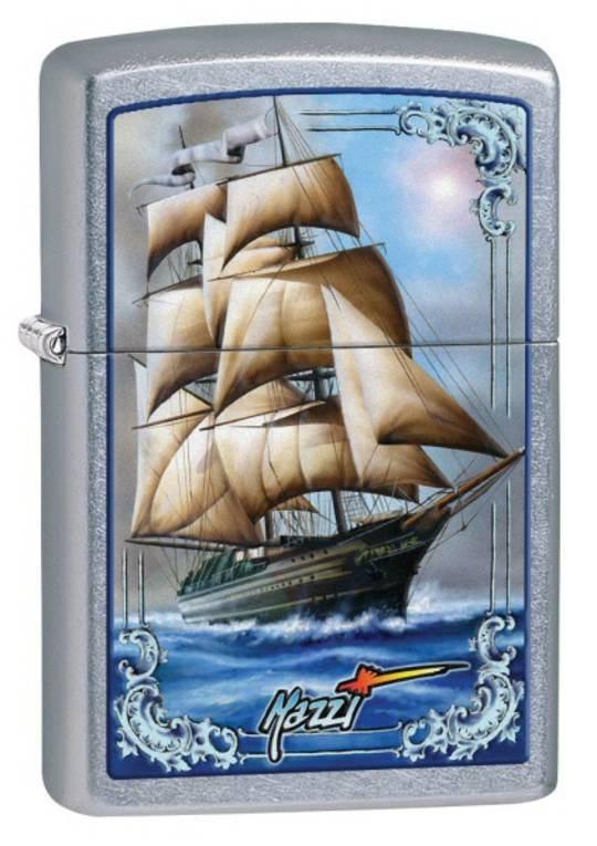 Zippo Mazzi Ship Street Chrome Lighter