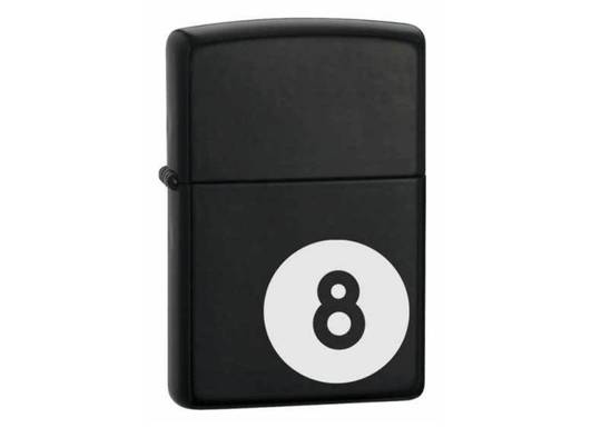Zippo 8 Ball Black Matte Lighter