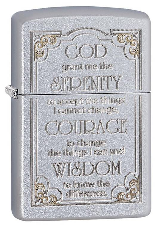 Zippo Serenity Prayer Chrome Lighter