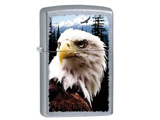 Zippo Eagle Stree Chrome Lighter