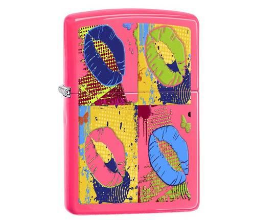 Zippo Pop Lips Neon Pink Lighter