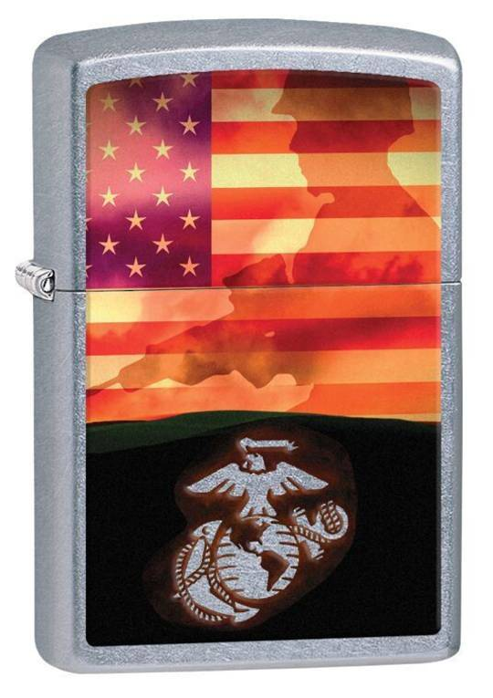 Zippo USMC Street Chrome Lighter