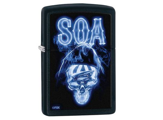 Zippo Sons Of Anarchy, Ghostly Reaper Black Matte 29317