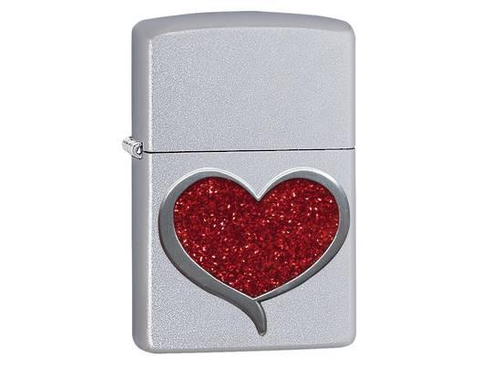 Zippo Glitter Heart Lighter