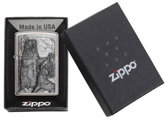Zippo Bear vs. Wolf Chrome Emblem