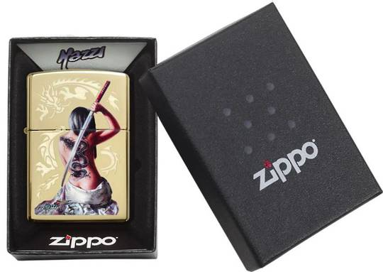 Zippo Girl with Sword Lighter