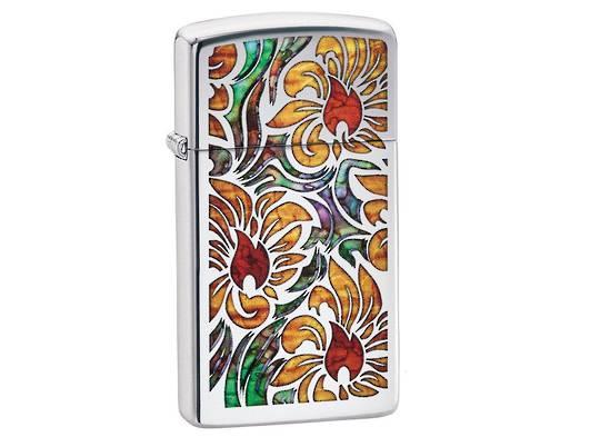 Zippo Fusion Floral Design