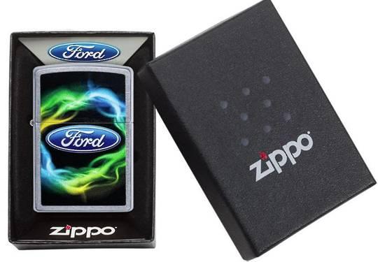 Zippo Ford Script In Oval Logo Lighter