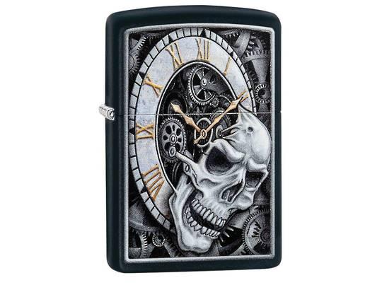 Zippo Skull Clock Design